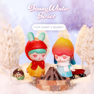 BUNNY WINTER - boite de 12 figurines à collectionner